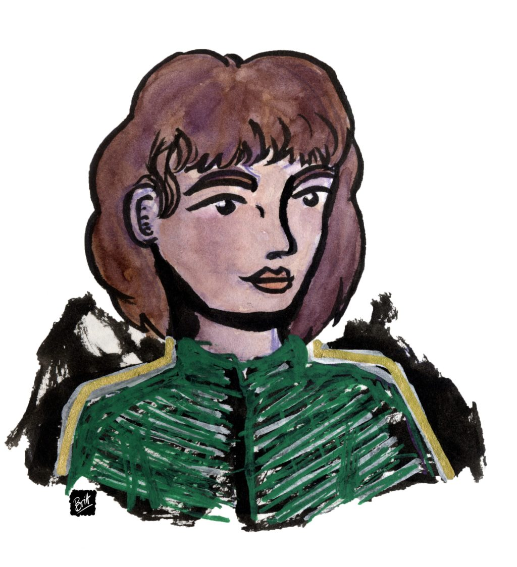 Berna, one of my D&D characters, a ranger, portrait image, slightly older.