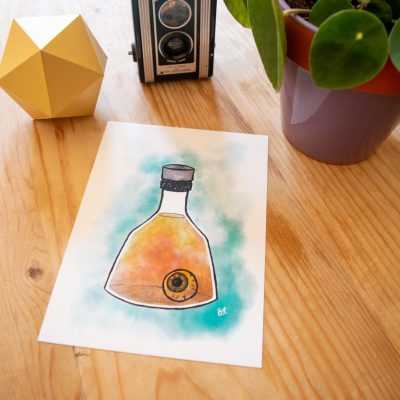 Seeing Potion Print on display