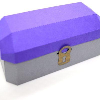 Treasure Chest in purple and grey.