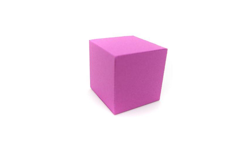 Platonic Solids colourful 3d paper activity kit cube