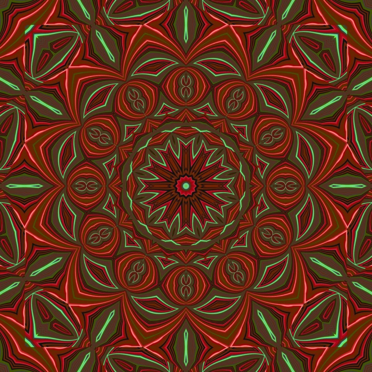 Kalidoscopic Neon Eye glitch art