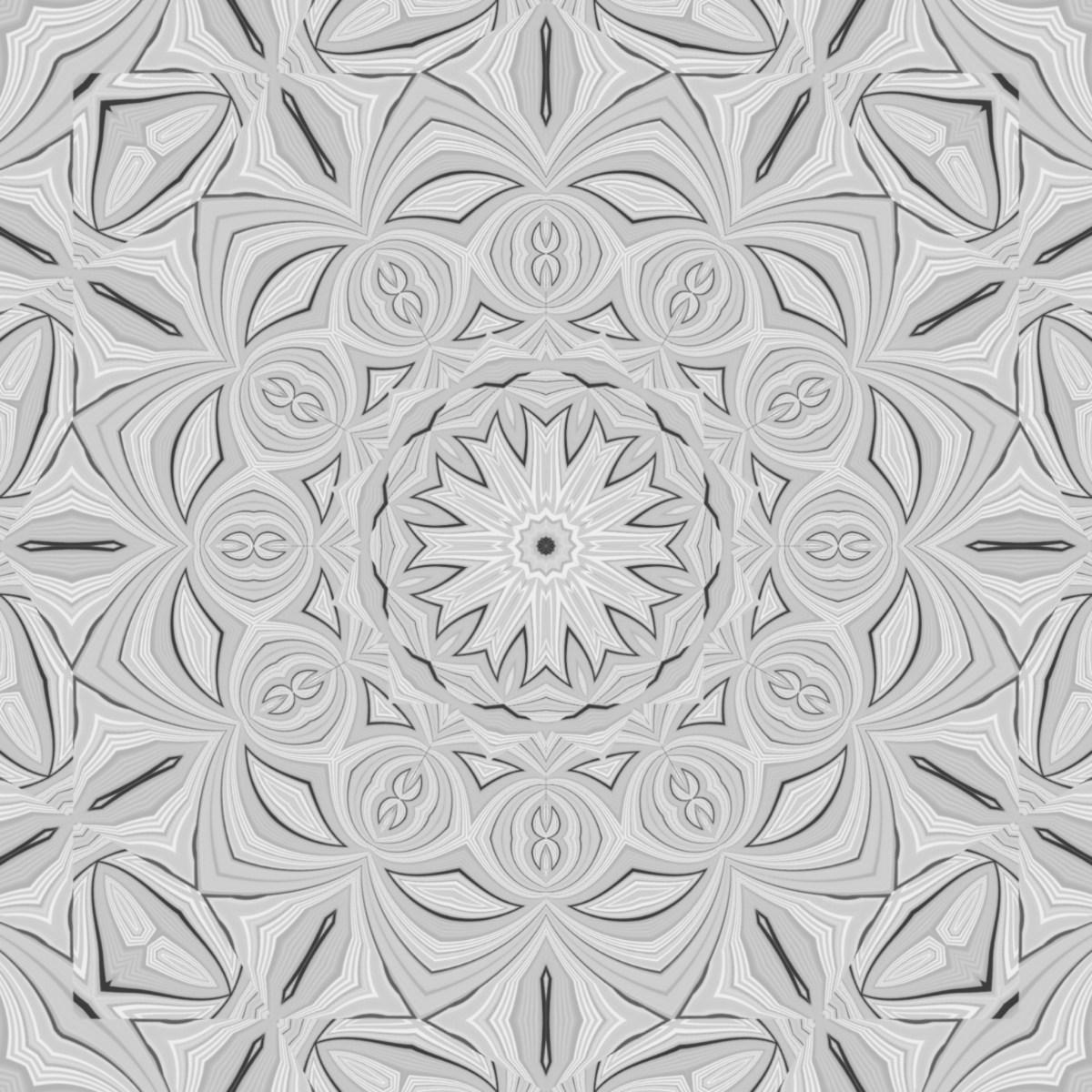 Kalidoscopic Monochrome Eye glitch art