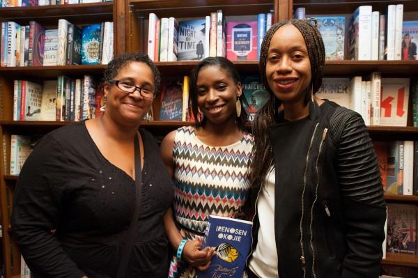 [L-R] Award winning novelist Yvette Edwards, Irenosen Okojie, Joy Francis, founder of Words of  Colour