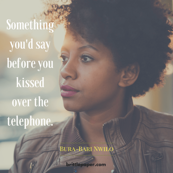 something you'd say before you kissed over the telephone