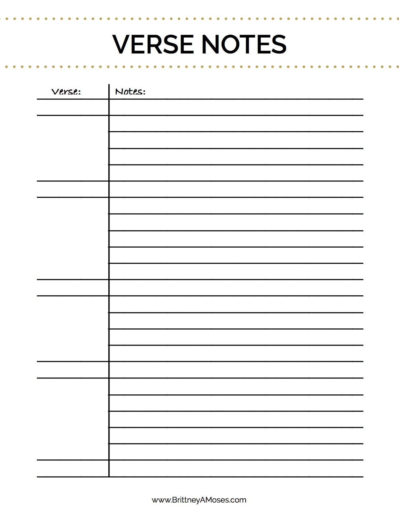 Bible Study Outline Blank Worksheet