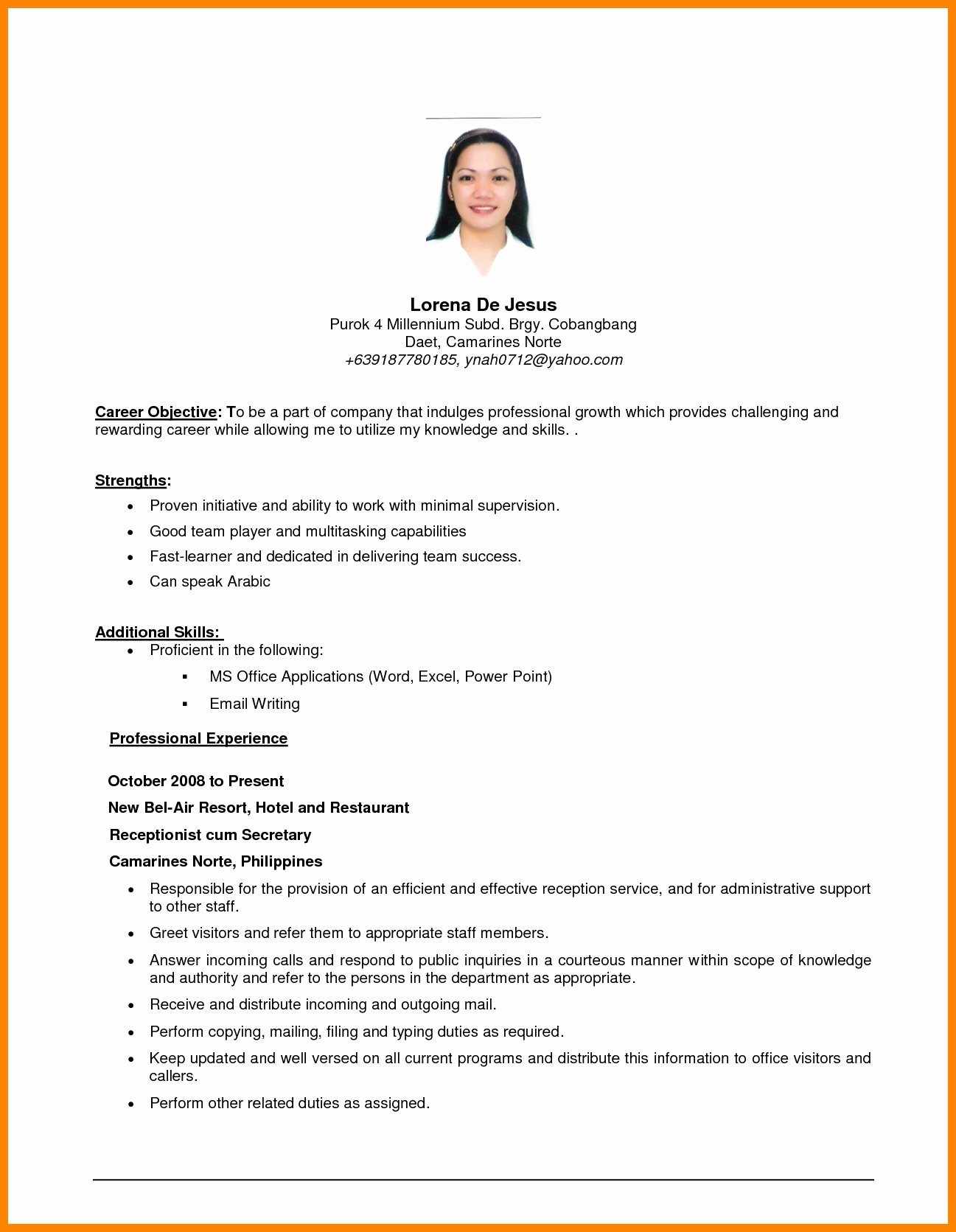 General Resume Objective Examples