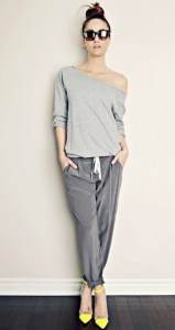 how-to-style-heels-with-sweats