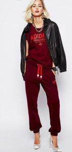 how-to-wear-heels-and-sweats-together