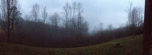 We stayed at a cabin in the Appalachian Mountains.