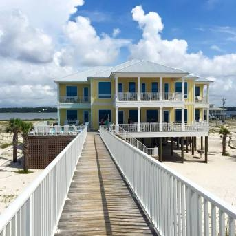 Our beach house during family vacation in Gulf Shores.