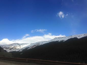 Passing through Northern Colorado and viewing the snowy Rockies.