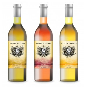 brixen cellars white wine label designs
