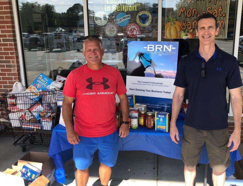 BRNSC 2019 food drive - Paul Quinn & Dave Wilson
