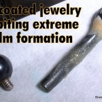 Coated barbell with biofilm
