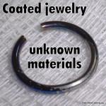 Coated jewelry