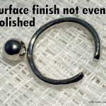 Uneven surface finish