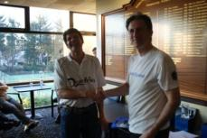 Masters Racketball Over 40's winner