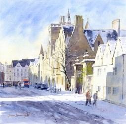 Sun and snow, Broad Street