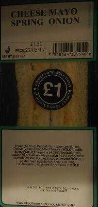 Cheese Mayo Spring Onion Sandwich