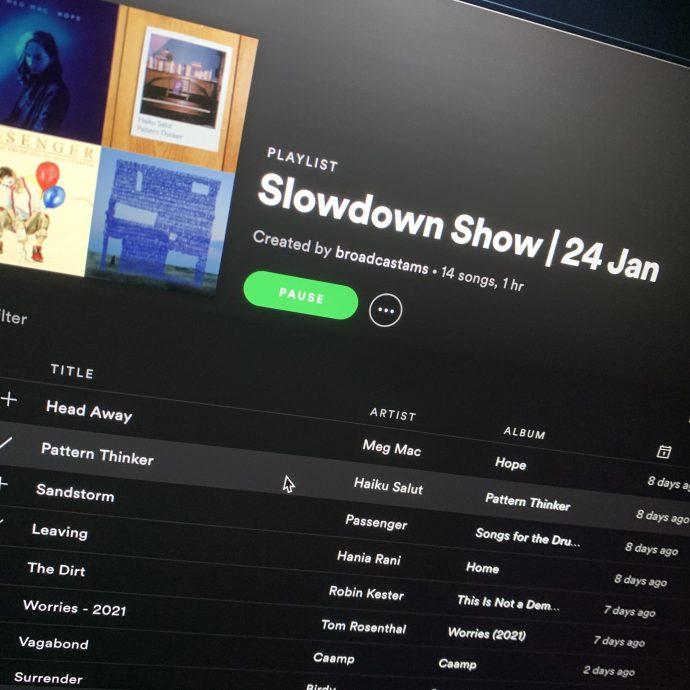 slowdown 24 jan