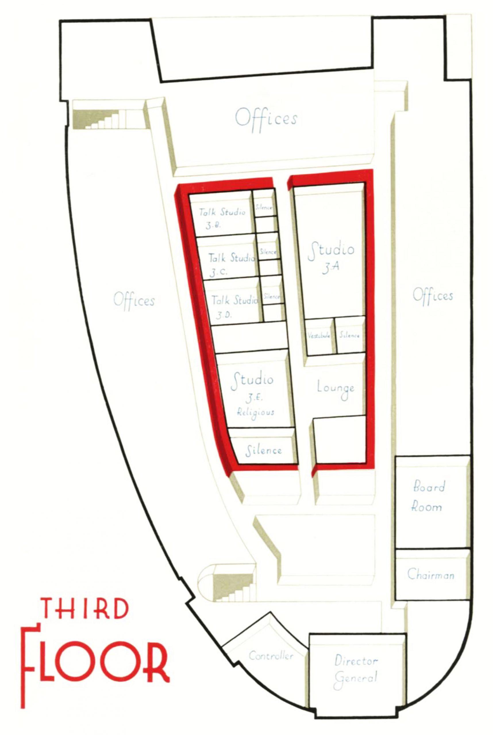 Diagram of the third floor