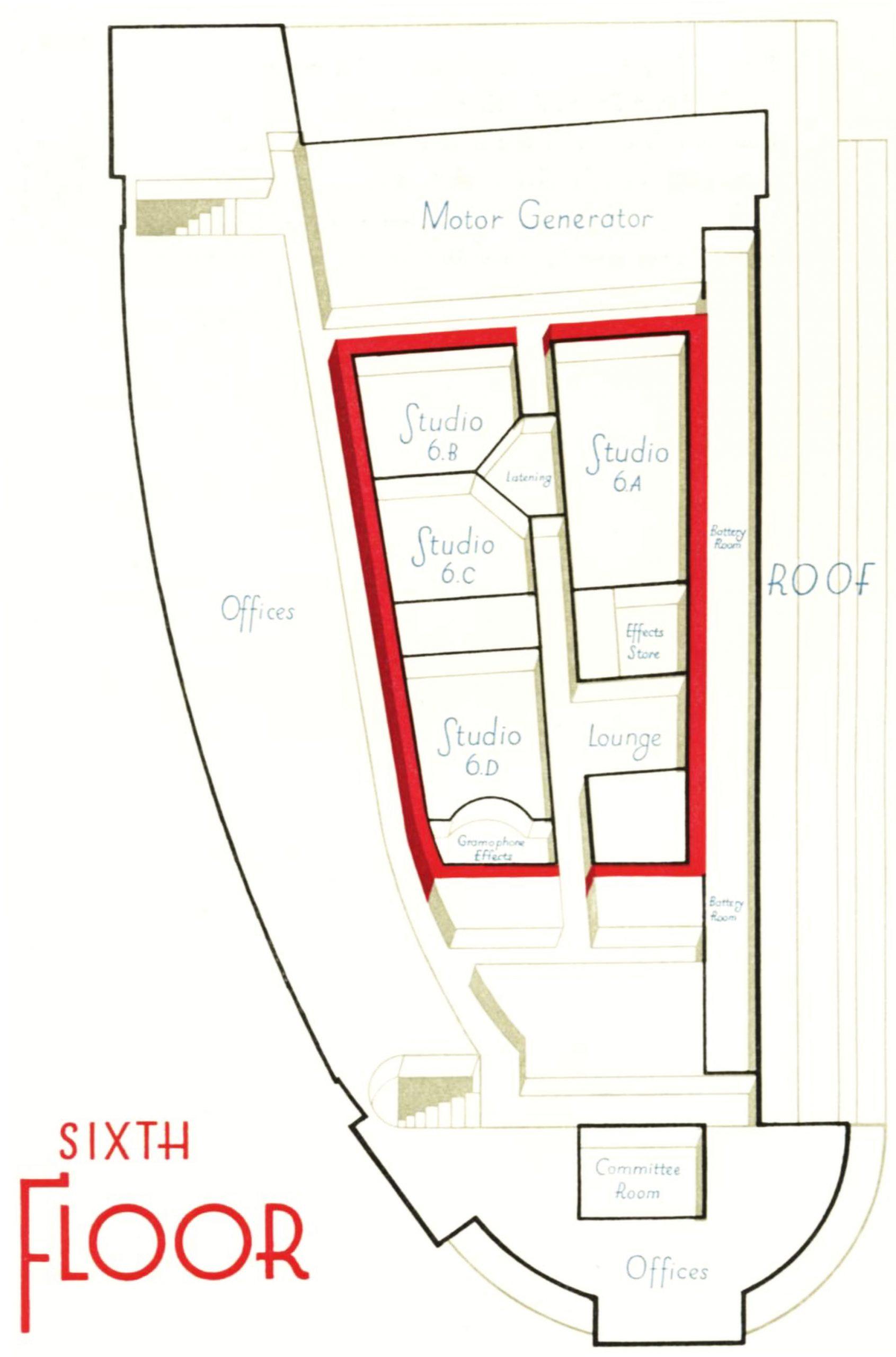 6th floor diagram