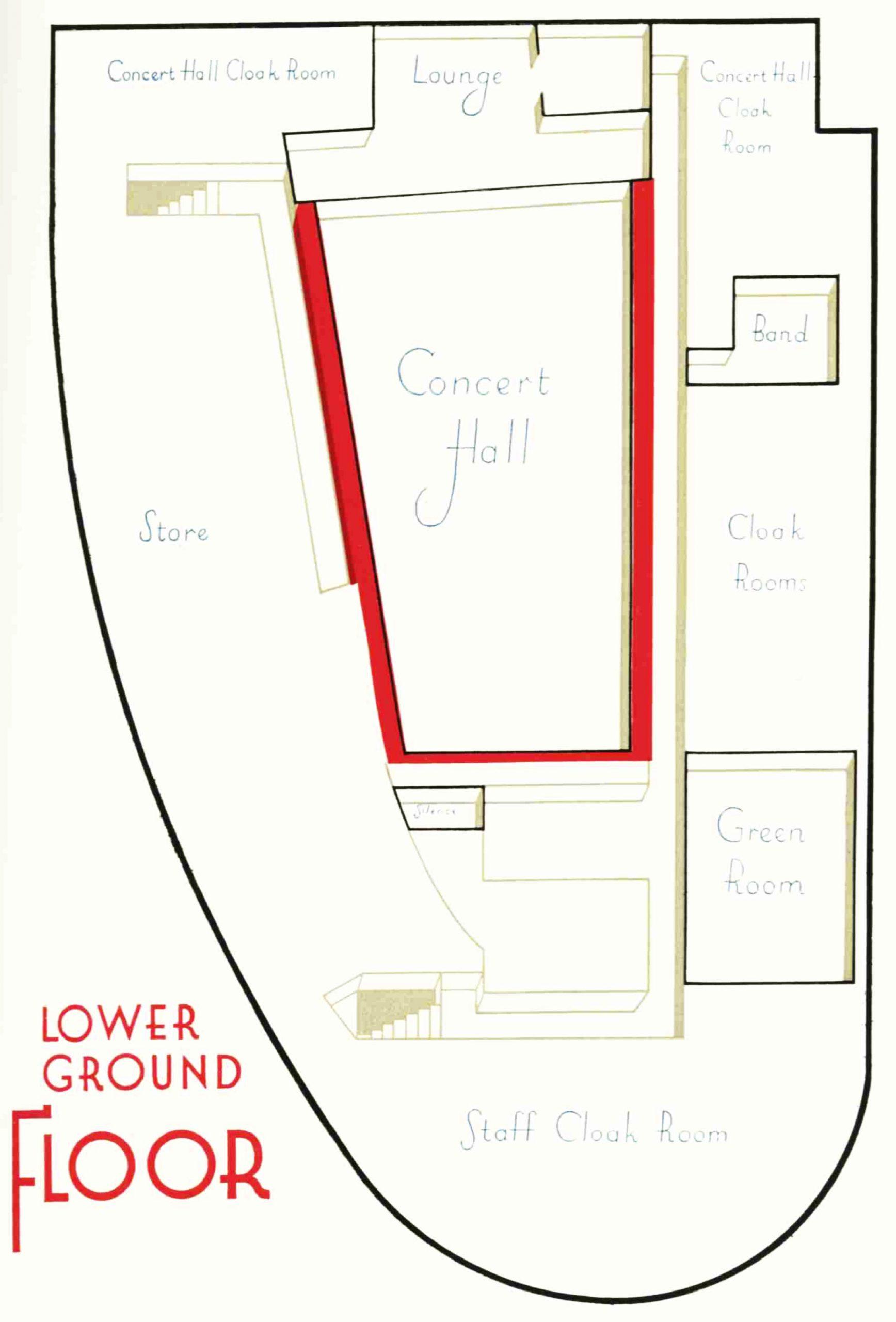 Diagram of the lower ground floor