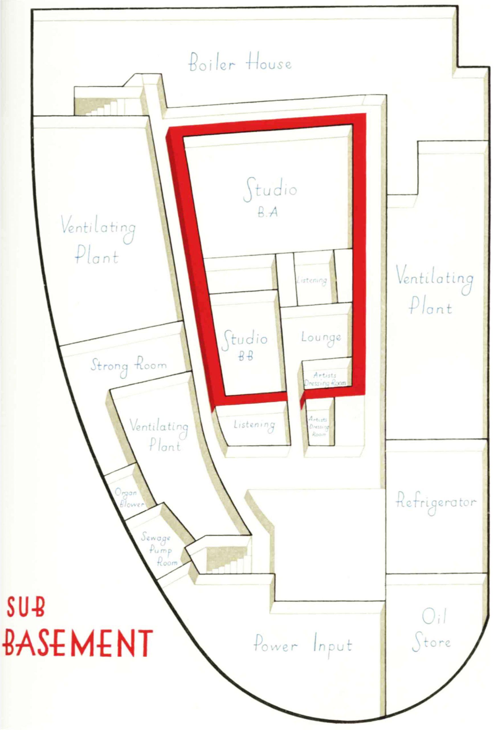 Diagram of the sub-basement