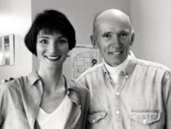 KCBS morning news anchors Lois Melkonian and Al Hart (1995)