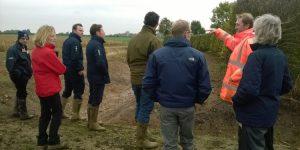 Site visit to Salle silt traps, Wensum