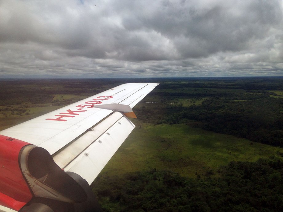 Landing in La Macarena
