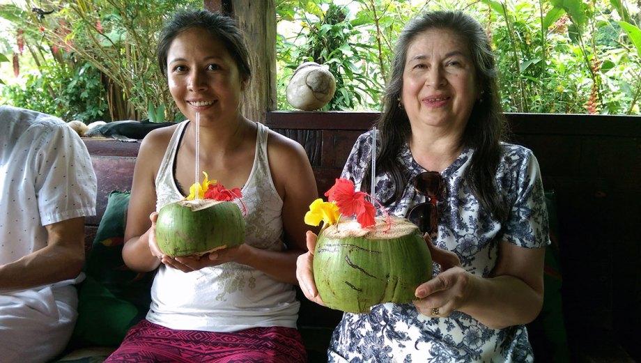 Fresh coconuts at the Playa Moromico Hotel