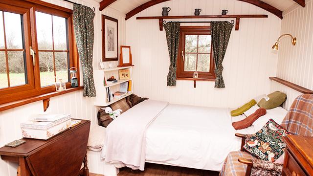 Shepherd hut interior