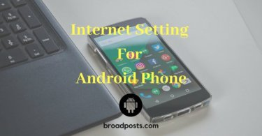 Internet setting for android