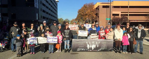 Wyakin Warriors at the Veterans Day parade in Boise