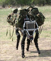 Four footed military robot