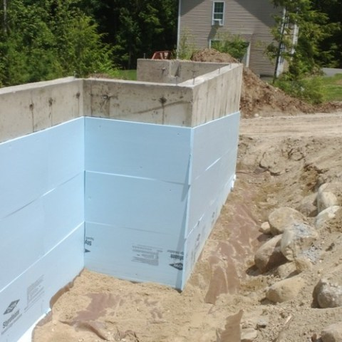 Insulating the foundation.
