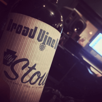 Sippin on some Ill Stout while listing to good music.