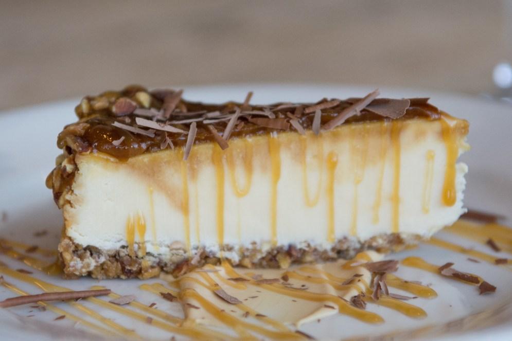 Gluten-free Caramel Turtle Cheesecake