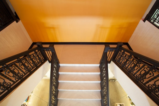 The Grand Marble Staircase leading to the Mezzanine