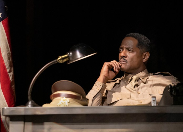 Blair Underwood in <i>A Soldier's Play</i>. Photo by Joan Marcus.