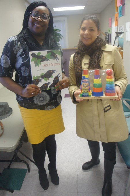 Larissa West, Teacher in Parent-Child Home Program, and Lisa Alexander