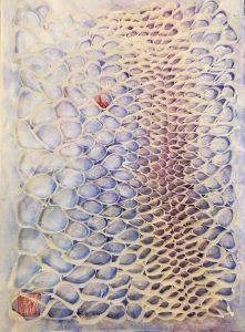 "Hiromi Ashlin, ""Issho"", Origami on Panel, 14"" x 10"""