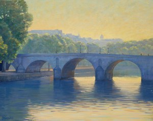Bradley Stevens - Morning on the Seine, 24x30, Oil on Linen