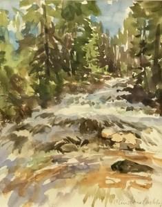 """""""Cascade Fox Creek"""" 12"""" x 9"""", Watercolor on Paper"""
