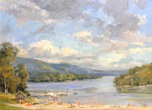 """Deep Creek Lake"", 12"" x 24"", Oil on Canvas"
