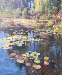 """Summer Garden 30x24 Oil on Canvas 1"