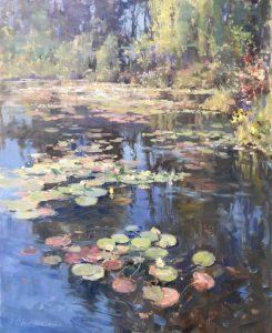 Christine Lashley Summer Garden 30x24 Oil on Canvas