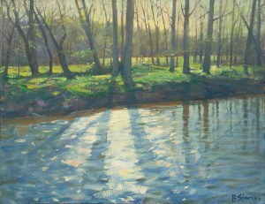 Bradley Stevens, Light On Broad Run, x , oil on linen
