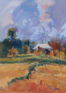 Ken Strong, A Relic of New England 15.375X21.25, Oil on canvas